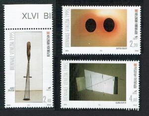 Croatia 46th Art Biennale Venice Work by Croatian artists 3v SG#356-358