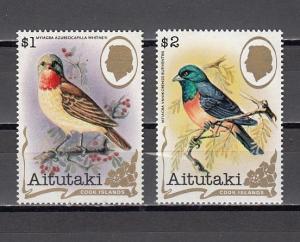 Aitutaki, Scott cat. 246 A-B. Bird Definitive values.