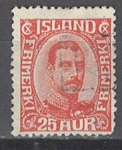 COLLECTION LOT # 2522 ICELAND #121 1921 CV+$62.50
