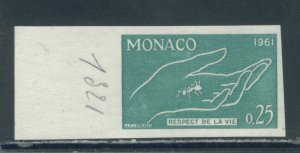 Monaco 482 Color Proof in Green MNH cgs