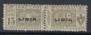 ITALY - Libia Pacchi Sass. n.12 MNH** cv 575$  with certificate