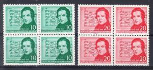 German Democratic Republic Scott 303-304 Mint NH blocks (Catalog Value $28.00)