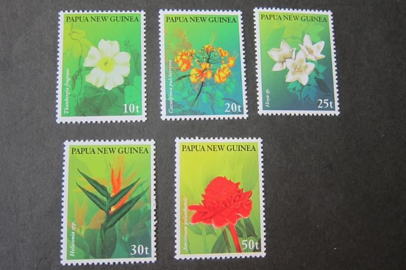 Papua New Guinea MNH 928-32 Flowers 1997