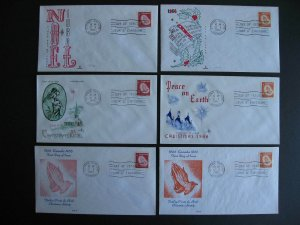 Canada 1966 Christmas Sc 451-2 3 different cachet FDC first day covers singles 6