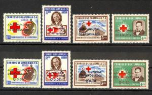 Guatemala Scott C235-C242 Mint NH (Catalog Value $20.85)