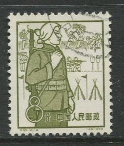 China - Scott 431 - Peoples Communes -1959 - VFU- Single 8f stamp