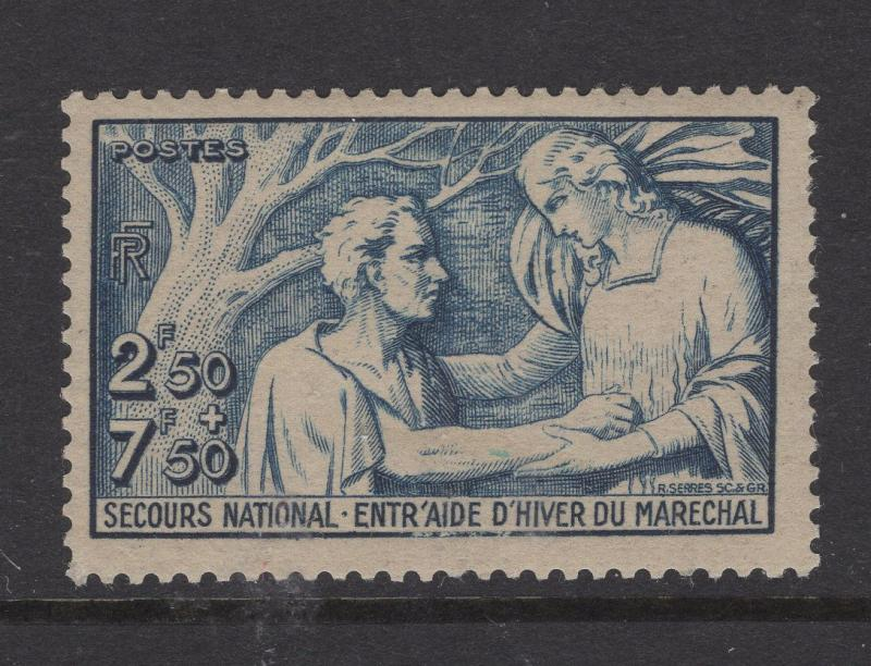 France 1941 Semi-Postal Stamps Aiding Needy Man Stamp Scott 113 MH