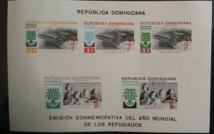 Dominican Republic 1960 World Refugees MS Imperforated
