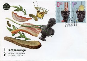 Bosnia & Herzegovina Gastronomy Stamps 2020 FDC Bacon Brandy Fruits 2v Set