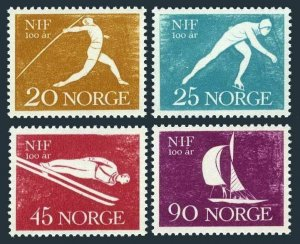 Norway 389-392,MNH.Mi 452-455. Javelin thrower,Skater,Ski jumper,Sailboat,1961.