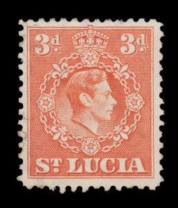 BRITISH ST. LUCIA STAMP. YEAR 1938. SCOTT # 117. USED