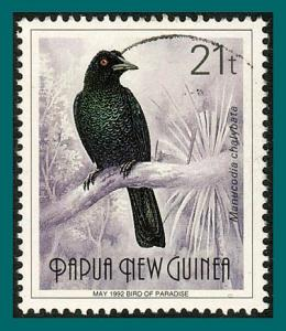 Papua New Guinea 1992 Bird of Paradise, 21t May, used  #759,SG640