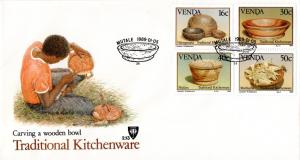 Venda - 1989 Traditional Kitchenware FDC SG 183-186