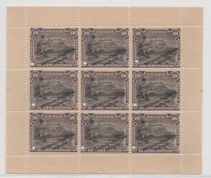 Malaya North Borneo - 1909 - SG 175s (Specimen Sheetlet) - MNH