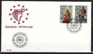 Iceland, Scott cat. 606-607. Europa-Music Year issue. First day cover. ^