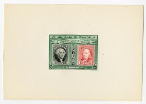 Beautiful 1947 Engraved Proof on Card B H Homan Fantasy XF