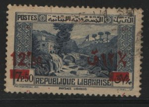 LEBANON, 150, USED, 1937-40,Stamp of 1930-35 surcharged