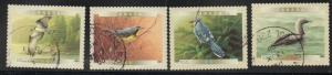 Canada Sc 1843-6 2000 Bird stamp set used from booklet