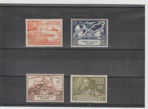 Turks and Caicos  Scott#  101-104  MH  (1949 UPU)