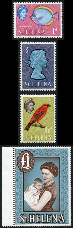 St Helena SG176a/189a the a numbers on chalky paper U/M