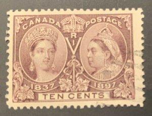 Canada #57 USED VF Jubilee C$160.00   JUMBO MARGIN AT Right