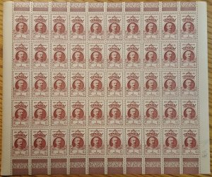 Somali Coast #170* NH  Post office fresh full sheet of 50  CV $55.00