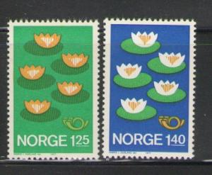 Norway Sc 688-9 1977 Nordic Cooperation stamps mint  NH