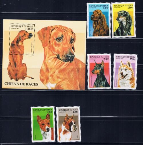 Benin 980-86 NH 1997 Dogs set