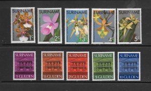 SURINAME #427-40 ORCHIDS & CENTRAL BANK  MNH