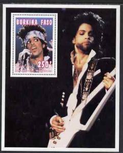 Burkina Faso 1995 Showbiz - 250f Prince perf m/sheet unmo...