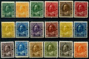 HERRICKSTAMP CANADA Sc.# 104-22 1925 Admiral. Scott $2870.00 Mint NH