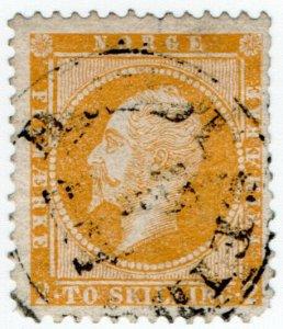 (I.B) Norway Postal : King Oskar 2sk