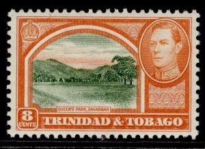 TRINIDAD & TOBAGO GVI SG251, 8c sage-green & vermilion, M MINT.