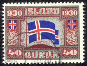 Iceland Sc# 161 Used 1930-  40a Definitives