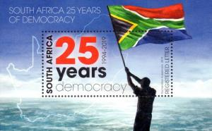 South Africa - 2019 25 Years Democracy MS MNH**