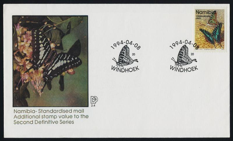 Namibia 745A on FDC - Butterfly