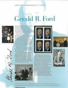 USPS COMMEMORATIVE PANEL #798 GERALD R. FORD #4199