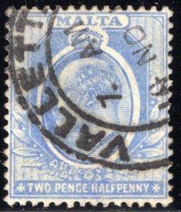 36 Malta, 2½p, ultra, used, 1911, VF