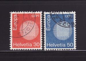 Switzerland 515-516 Set U Europa