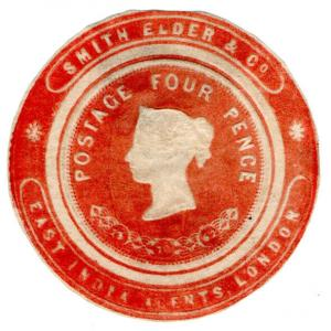 (I.B) QV Postal : Newspaper Wrapper - Smith Elder & Co 4d (Advertising Ring)