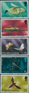 Pitcairn Islands 1975 SG162-166 Insects set FU