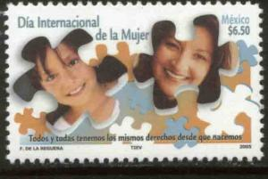 MEXICO 2438, International Womens Day. MINT, NH. F-VF.