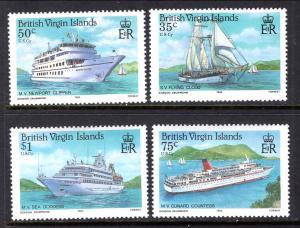 British Virgin Islands 524-527 Ships MNH VF