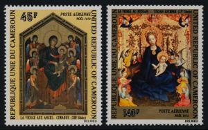 Cameroun C193-4 MNH Christmas, Art, Paintings, Madonna of the Rose