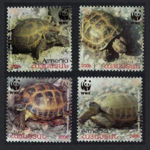 Armenia WWF Four-toed Tortoise 4v SG#605-608 SC#753-756 MI#561-564