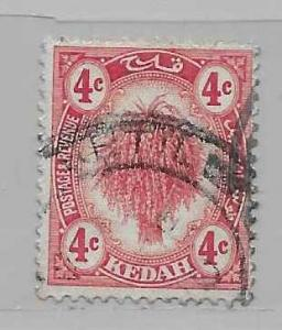 Malaya - Kedah 7 Sheaf of Rice single Used