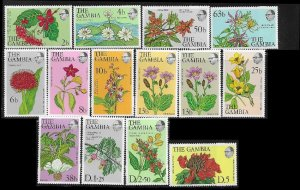 19987  The Gambia 354 - 356 + 359a mnh 2017 SCV $10.80 - see below