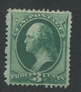 1873 US Stamp #158 3c VF Mint Original Gum Hinged Catalogue Value $110