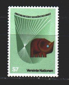 UN Vienna. 1982. 28 of the series. Ecology, elephant. MNH.