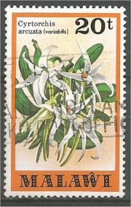 MALAWI 1979 used 20t  Orchids Scott 334